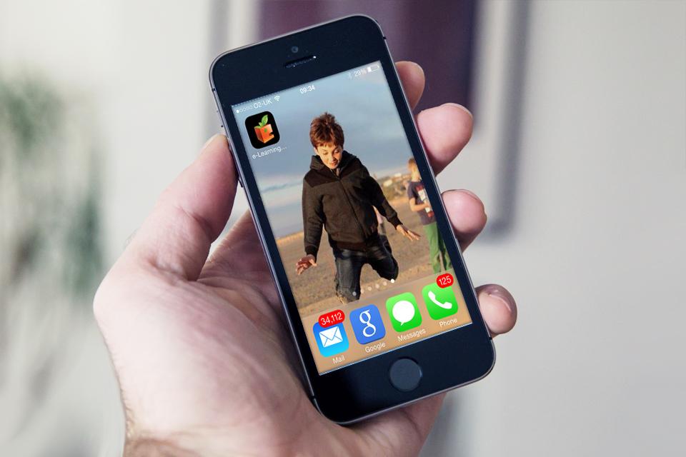 IPhone using Flash e-Learning